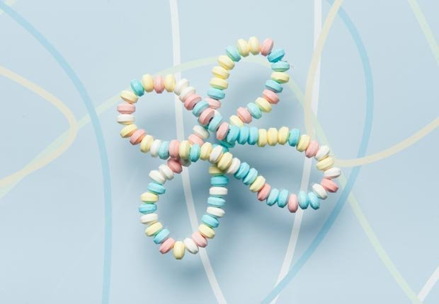Candy necklace.