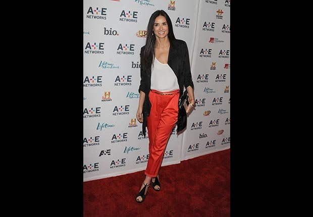 Demi Moore pictured at the presentation of the A&E upfronts in New York City on May 4,2011