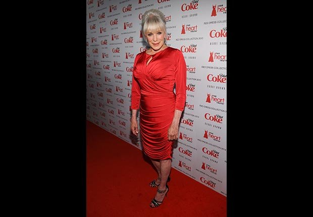 Actress Linda Evans attends the Heart Truth's Red Dress Collection 2012 Fashion Show at Hammerstein Ballroom on February 8, 2012 in New York City.