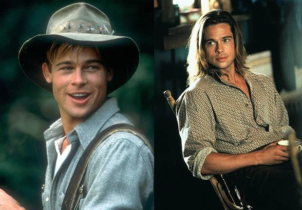 brad pitt career birthday kids children highlights photos slideshow high school dallas thelma louise river runs through it legends fall vampire kalifornia people magazine paltrow monkeys tibet joe black aniston wedding snatch fight club oceans 12 13 troy mr mrs smith jolie benjamin button inglorious mastectomy basterds tree life money ball katrina volunteer charity humanitarian aid architecture years slave world war z (Columbia Pictures/Photofest & AF archive / Alamy)