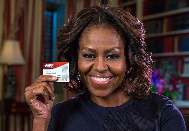 AARP Congratulates Michelle Obama on her 50th Birthday.
