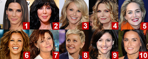 Sexiest Celebrity Boomer Poll, Hottest Celebrities Over 50 ...
