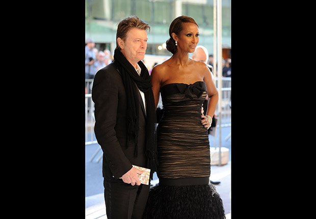 David Bowie and Iman. Romantic Couples Over 50.