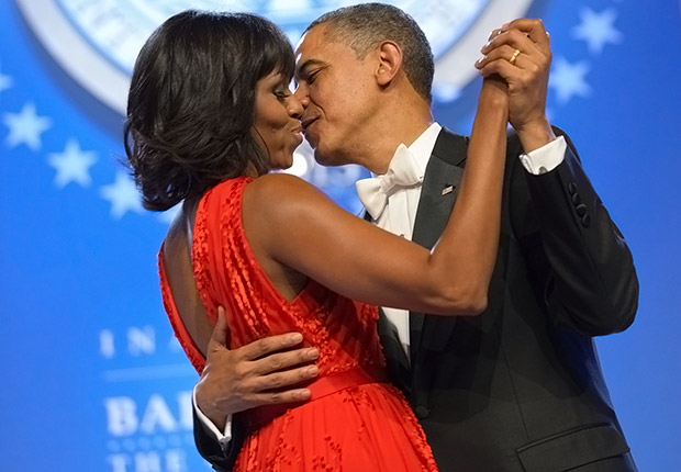 First Lady Michelle Obama and President Barack Obama. Romantic Couples Over 50.