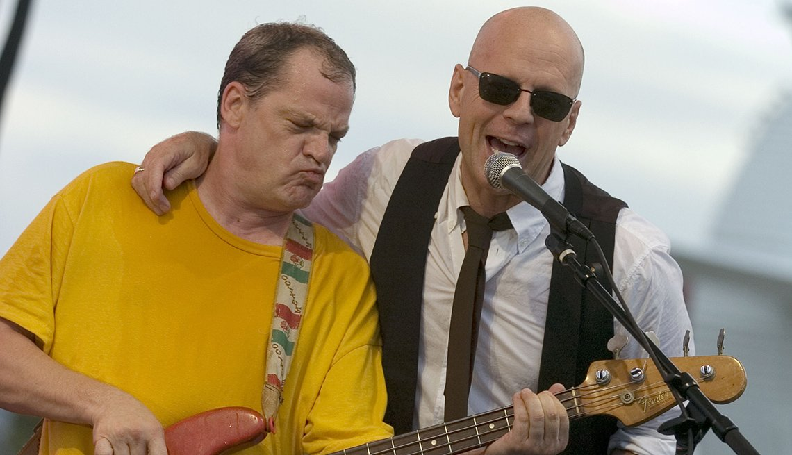 Actor Bruce Willis Performs On Stage, Singing, Actor Rock Stars