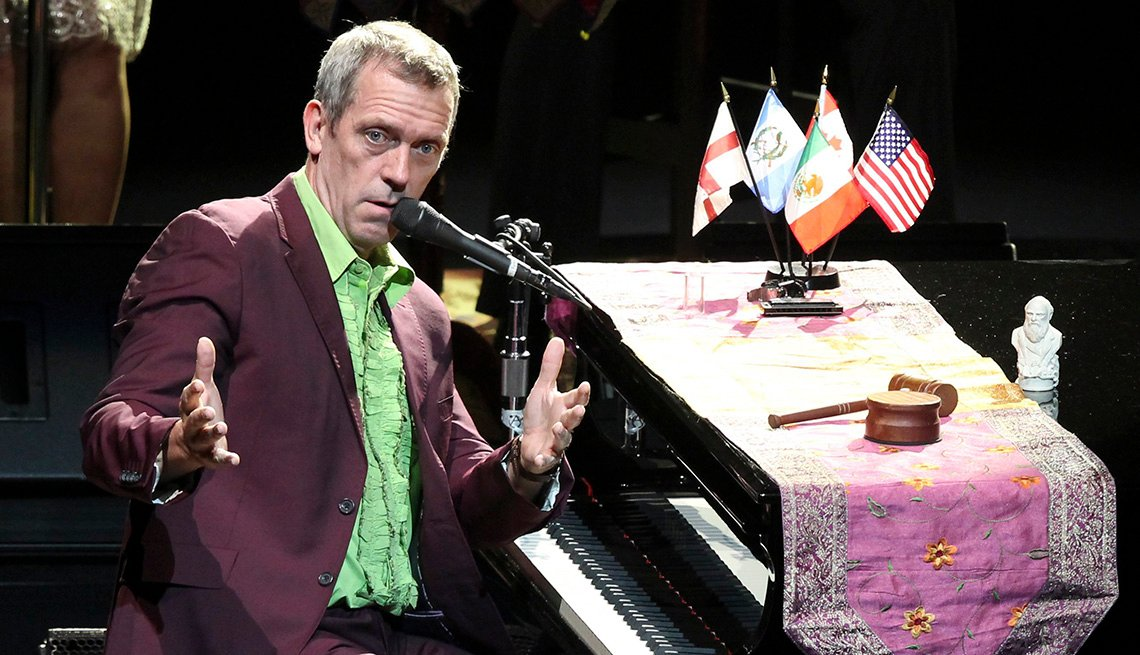 Hugh Laurie, Actor, Performance, On Stage, Concert, Piano, Singer, Actor Rock Stars
