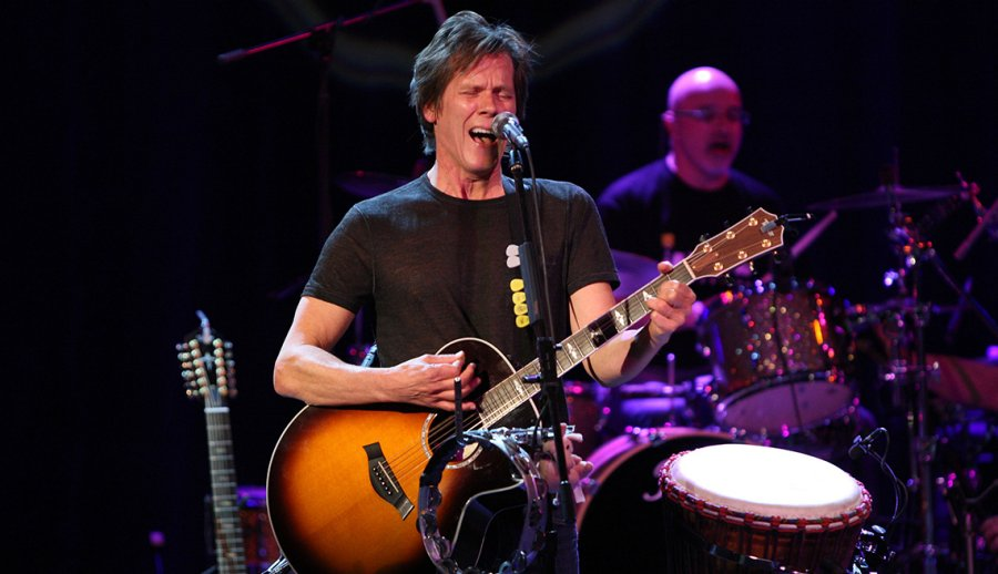 Kevin Bacon Actor On Stage Performance Concert Guitar Singing