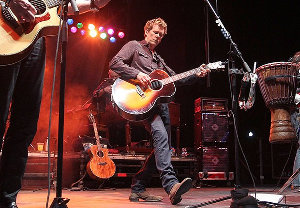 Actor Kevin Bacon performs with the Bacon Brothers Band, Boys Just Wanna Have Bands