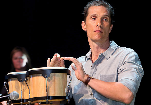 Mathew McConaughey performs in concert, Boys Just Wanna Have Bands
