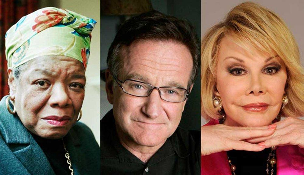 Celebrity Obituaries Maya Angelou Robin Williams Joan Rivers