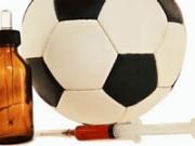Balón de fútbol y medicinas - Mundial de fútbol Brasil 2014