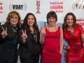 Angelica Maria, Angelica Vale, Eve Ensler, y Kate del Castillo, fotografía de las actrices de la obra de teatro Monólogos de la vagina