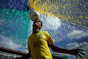 Futbolistas probaron el nuevo balón - Mundial de fútbol 2014