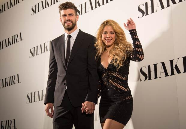 La cantante colombiana Shakira y el jugador de fútbol español Gerard Piqué