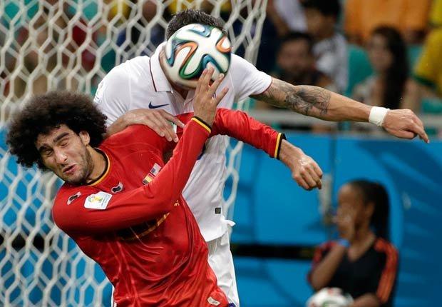 Marouane Fellaini - Peinados extraños en la Copa Mundial de fútbol