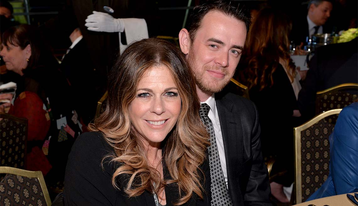 Actress Rita Wilson, Colin Hanks, Look Who's A Grandma
