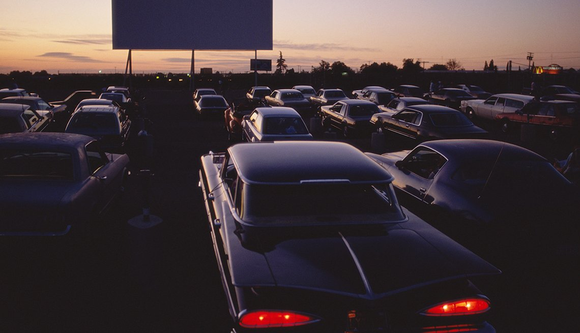You Know You're a Boomer if, cars at a drive-in movie