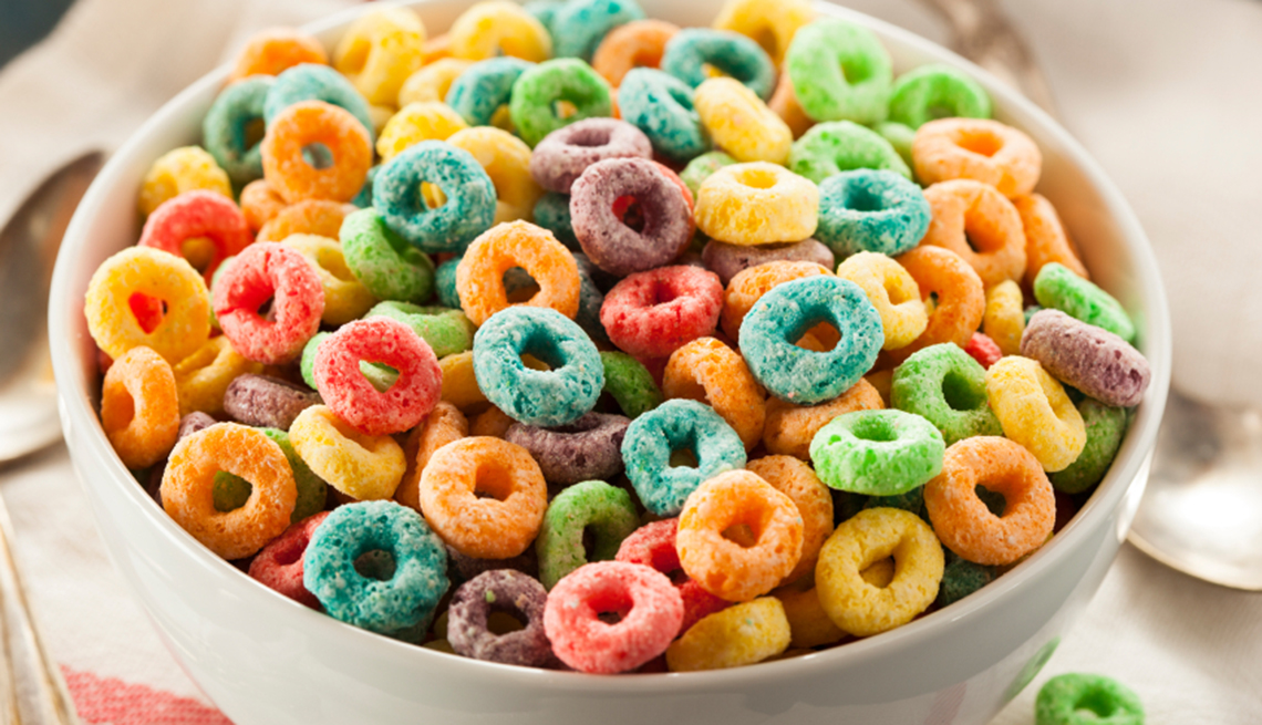 You Know You're a Boomer if, Fruit Loops cereal in bowl