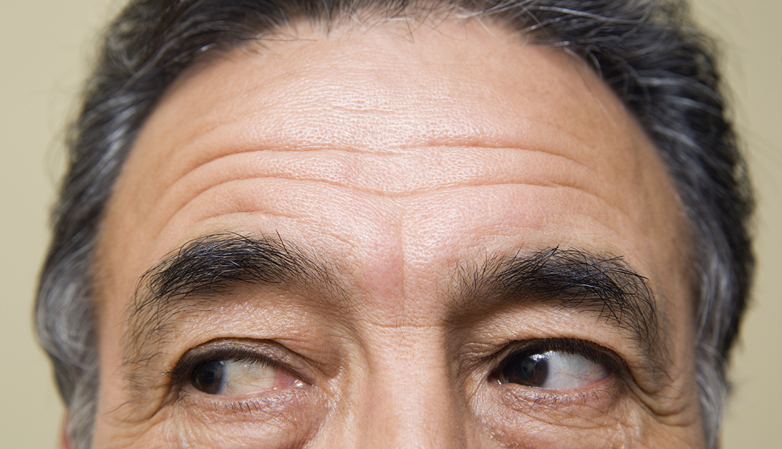 Close Up, Man, Face, Eyebrows, Look Younger