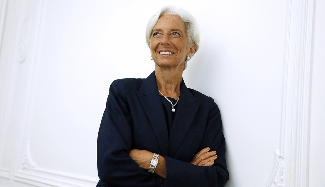 Christine Lagarde, Lawyer, Politician, Celebrity Grey Hairstyles