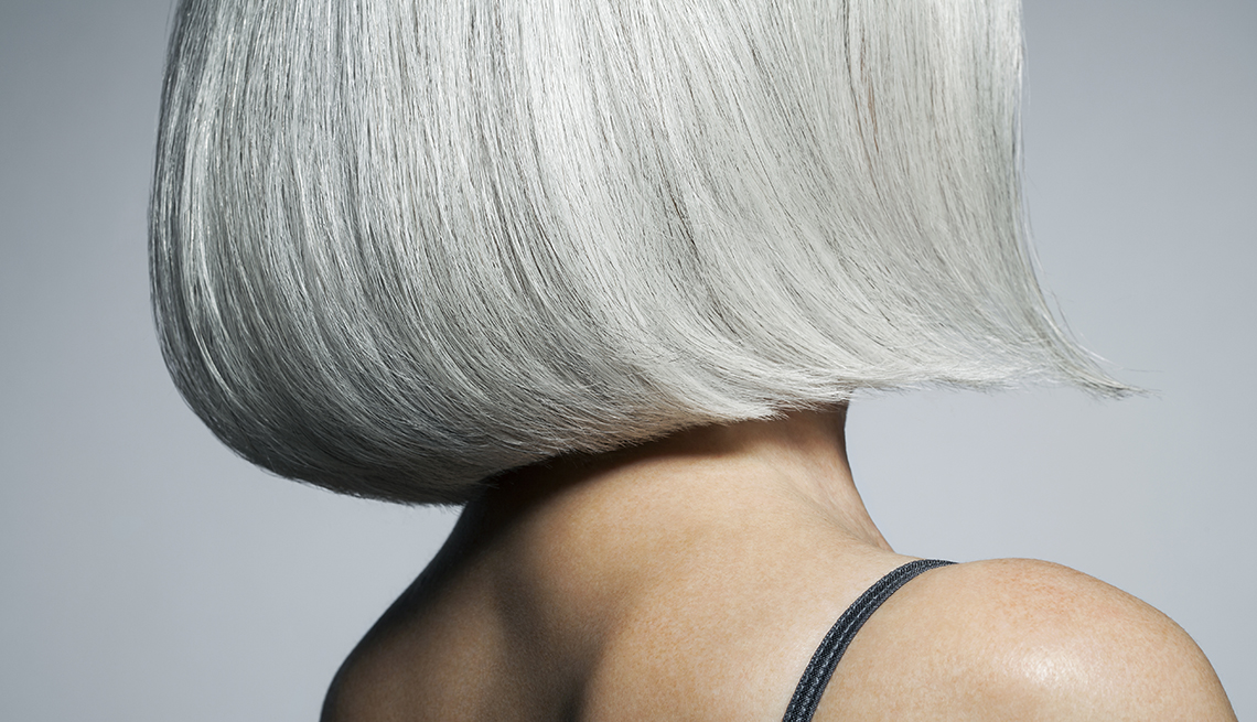 Close Up, Grey Hair, Going Grey Tips