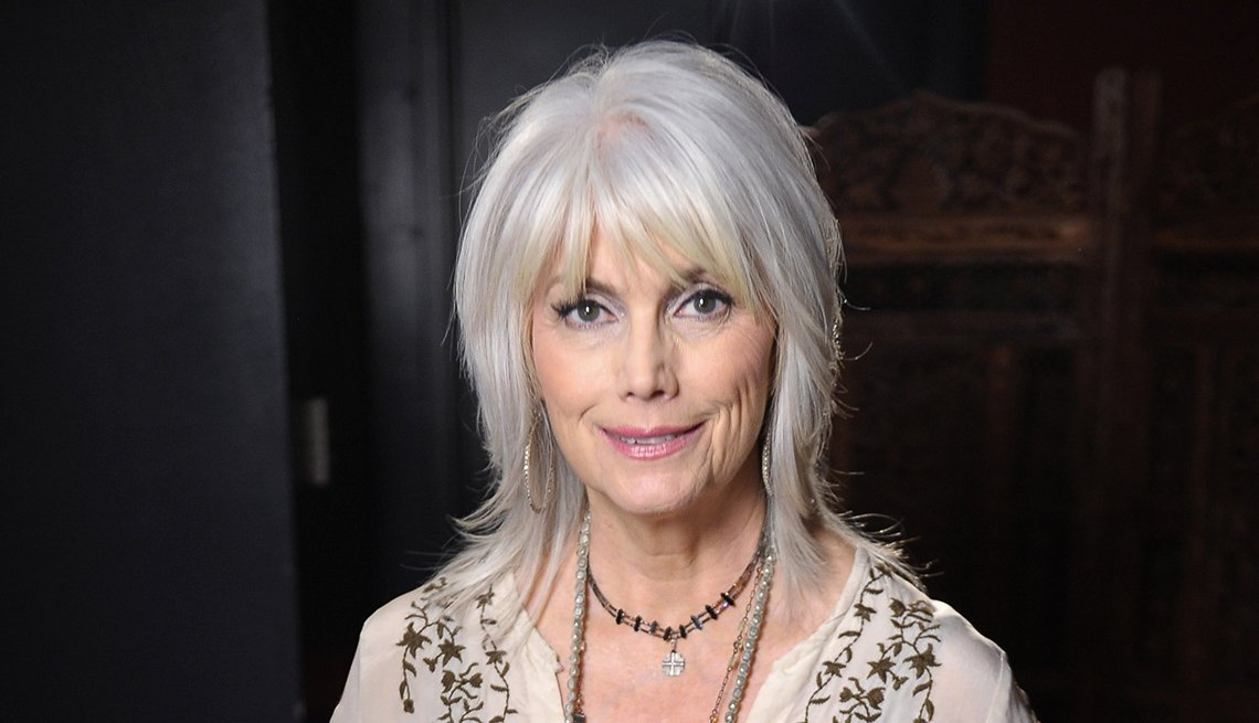 Singer, Musician Emmylou Harris, Celebrity Grey Hairstyles