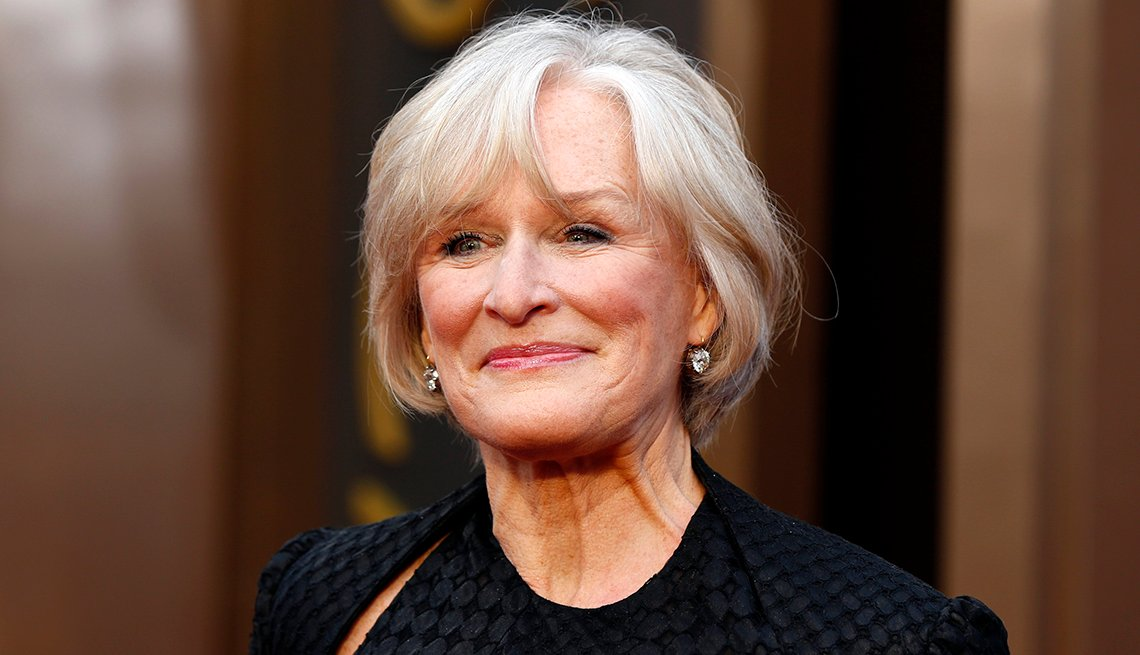 Actress Glenn Close, Celebrity Grey Hairstyles