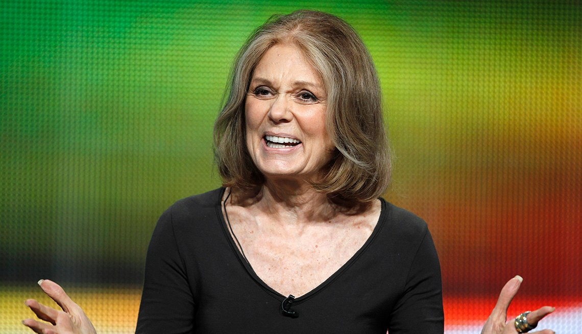 Gloria Steinem, Activist, Writer, Celebrity Grey Hairstyles
