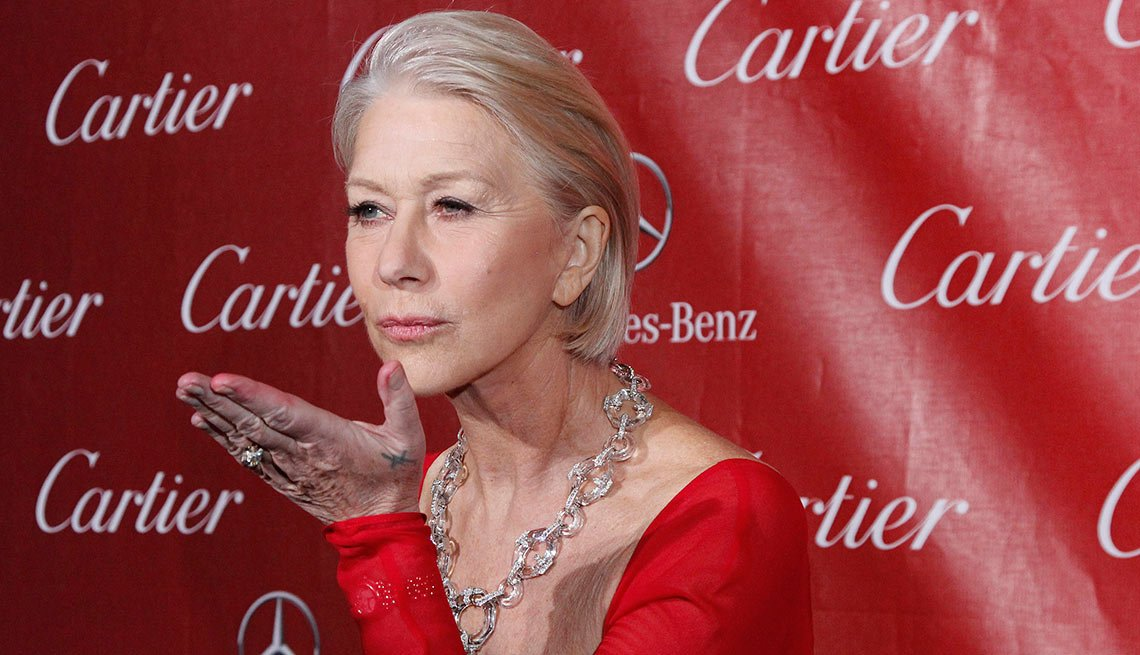 Helen Mirren, Actress, Celebrity Grey Hairstyles