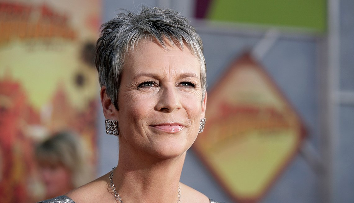 Actress Jamie Lee Curtis, Celebrity Grey Hairstyles
