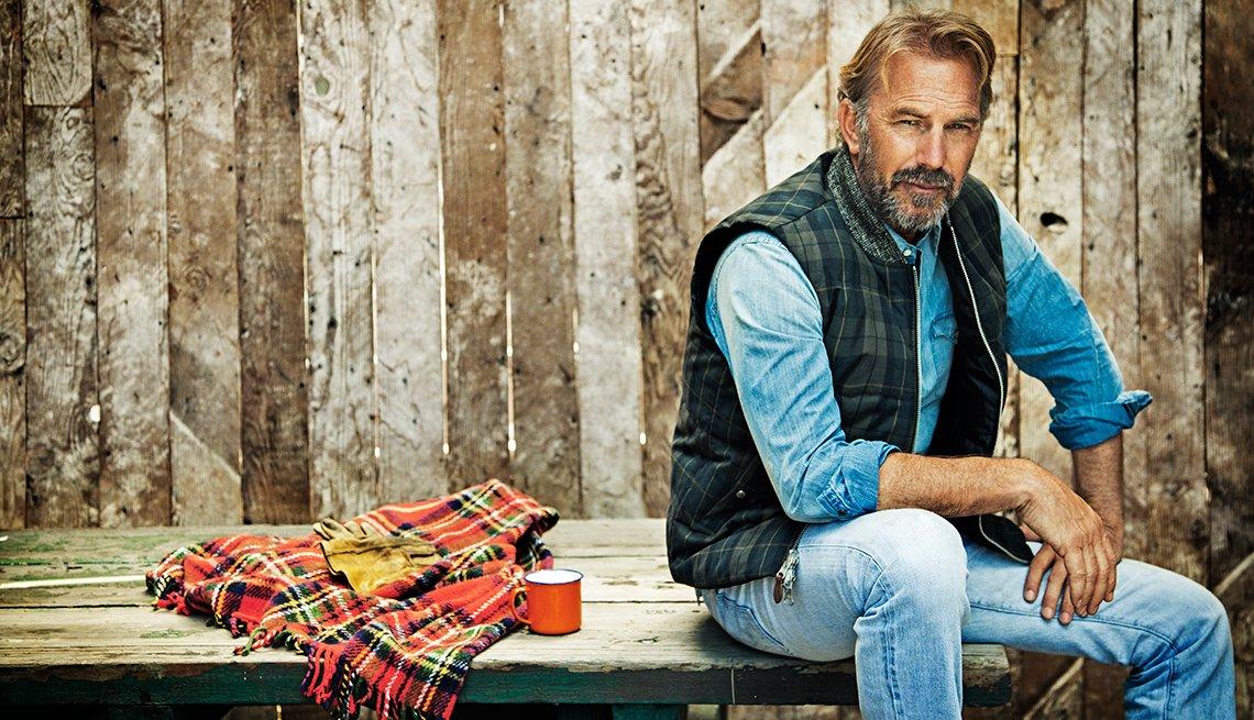 Retrato del actor Kevin Costner