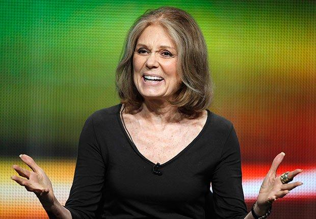 Gloria Steinem - Personalidades con canas