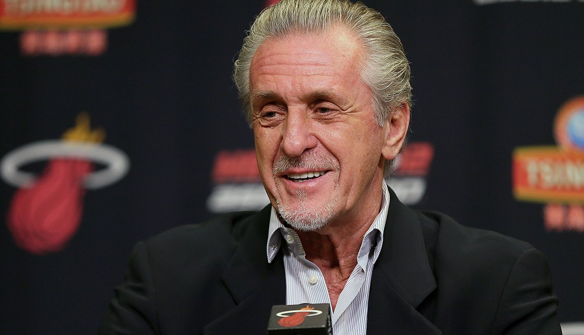Pat Riley, NBA, Coach, Miami Heat, Basketball, 2015 March Celebrity Birthday Milestones