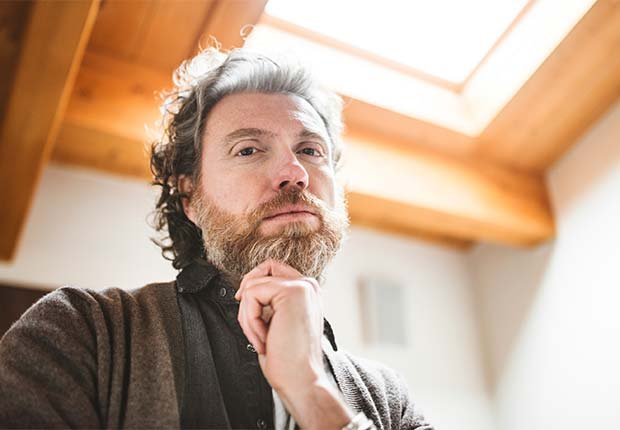 Pensive mature man with long beard, Beauty Tips and Secrets for Men