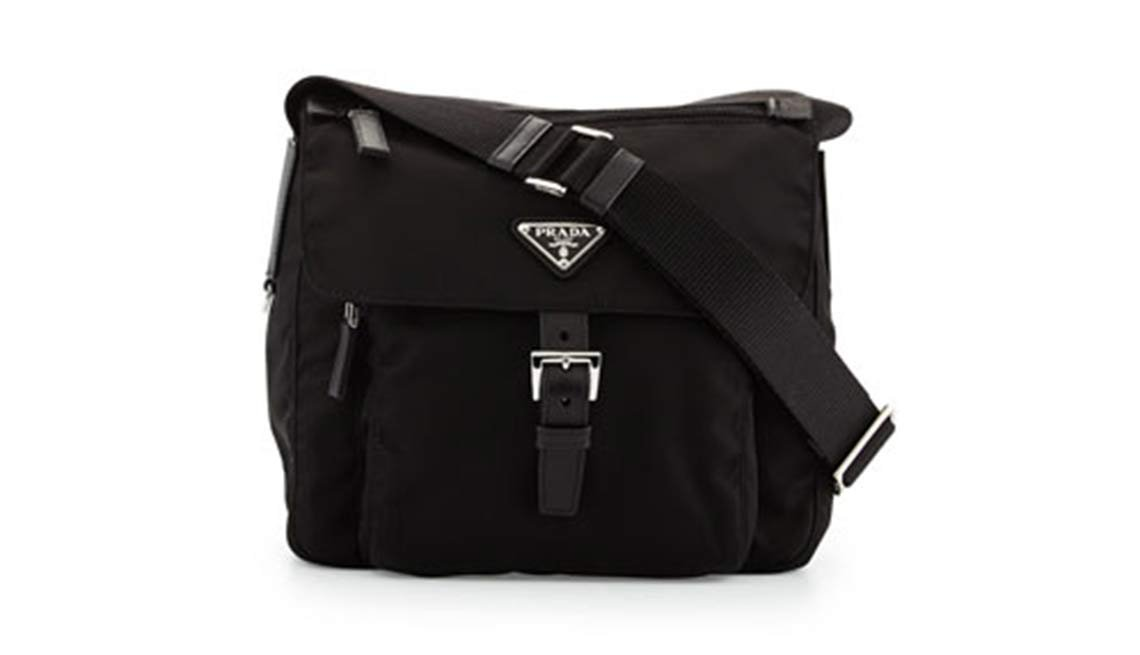 Prada, Vela Flap-Front Messenger Bag