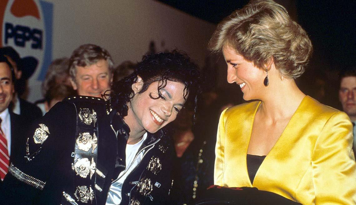 Michael Jackson con Lady Diana