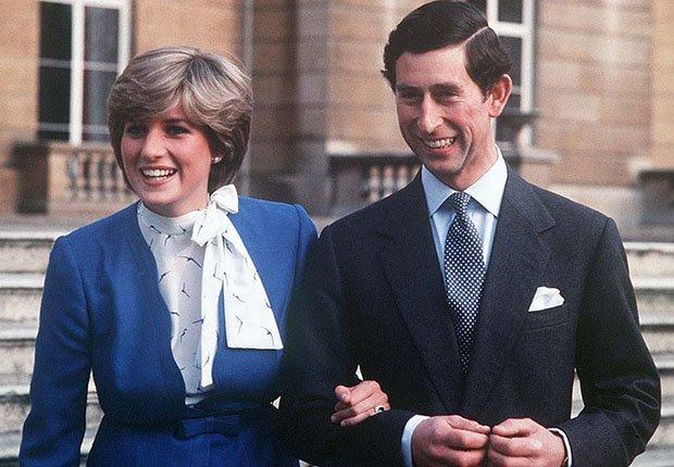 Lady Diana y el príncipe Carlos
