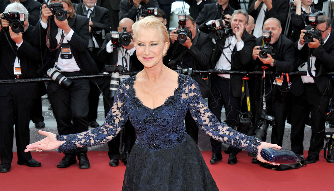 Helen Mirren attends the 69th annual Cannes Film Festival