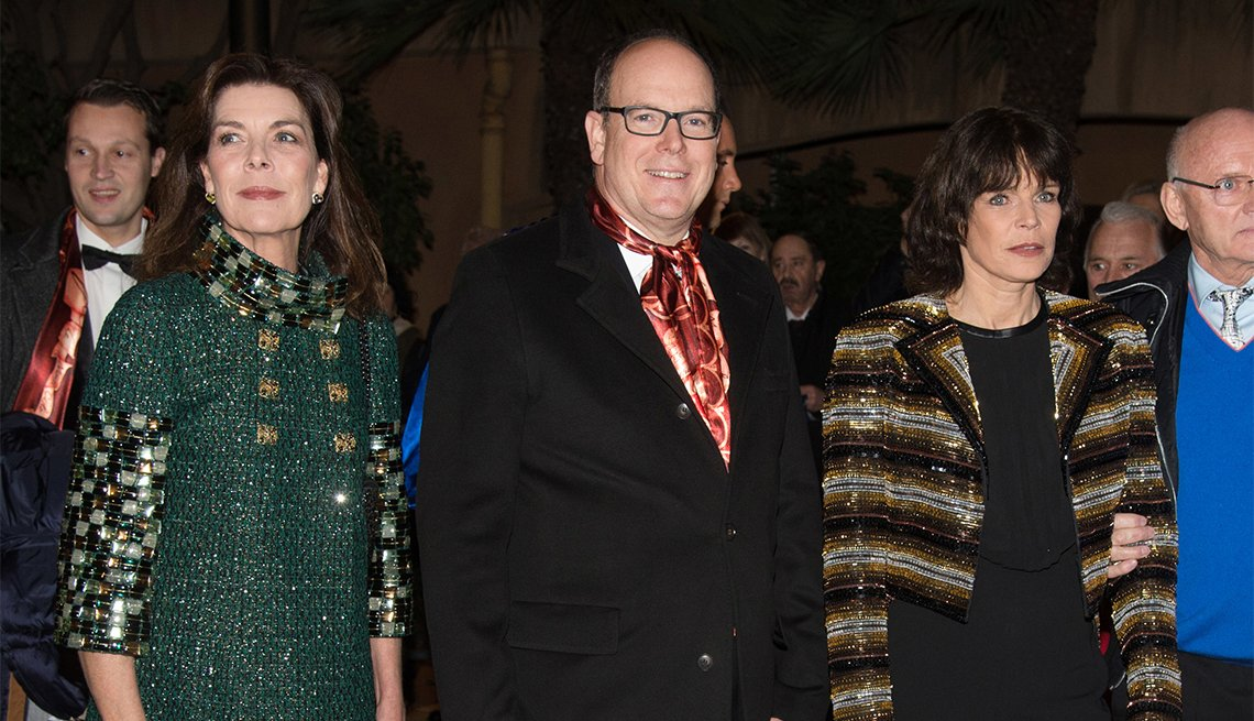 Princess Caroline of Hanover, Prince Albert II of Monaco and Princess Stephanie of Monaco