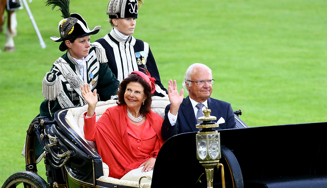 item 14 of Gallery image - Queen Silvia and King Carl XVI Gustaf of Sweden