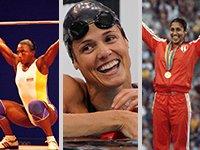 Maria Isabel Urrutia, Dara Torres and Maria Caridad Colon - Pioneros olímpicos hispanos