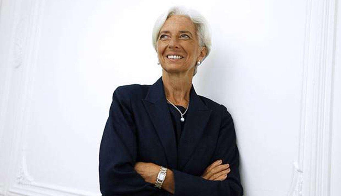 Famosas que se enorgullecen de sus cabelleras platinadas -  Christine Lagarde
