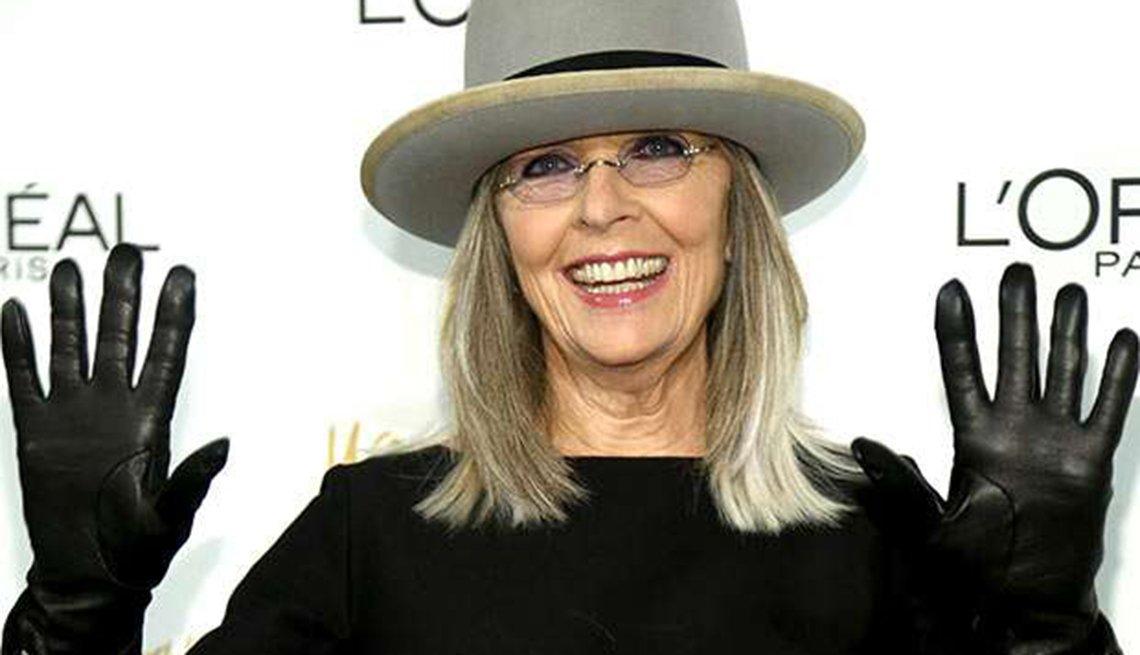 Famosas que se enorgullecen de sus cabelleras platinadas - Diane Keaton