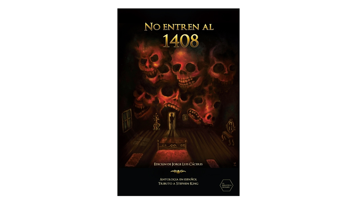 Libros en español para Halloween - Portada de No entren al 1408