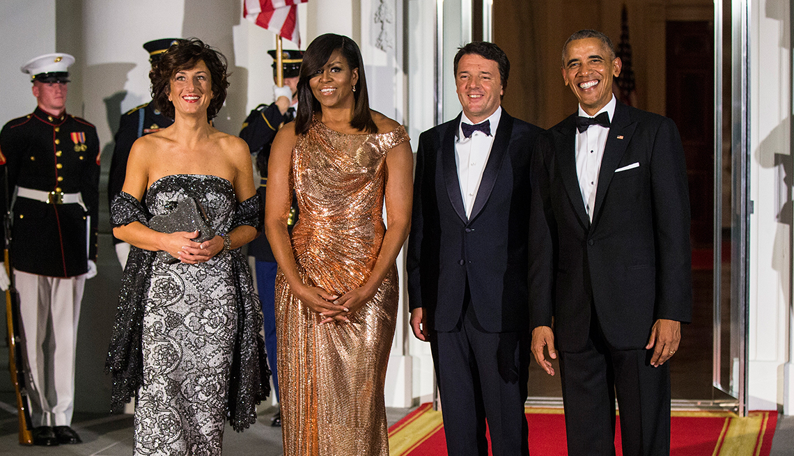 Michelle Obama at her final state dinner in 2016
