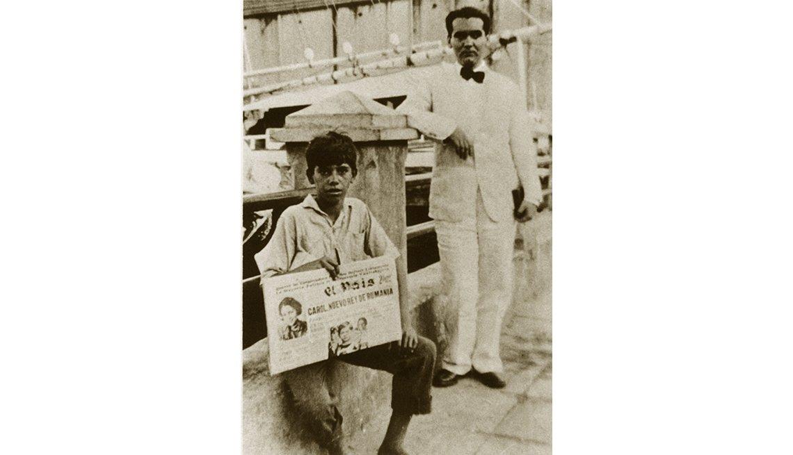 Foto del dramaturgo español Federico García Lorca en Cuba, 1930