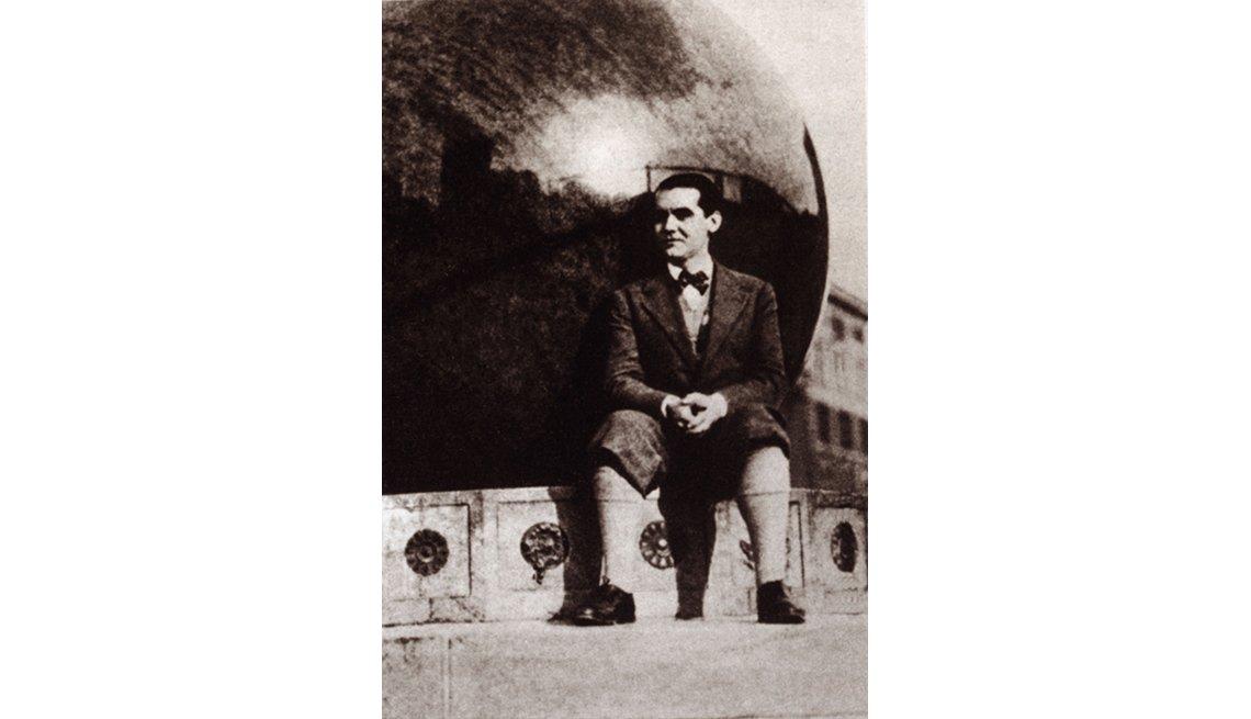 Foto del dramaturgo español Federico García Lorca en New York, 1929