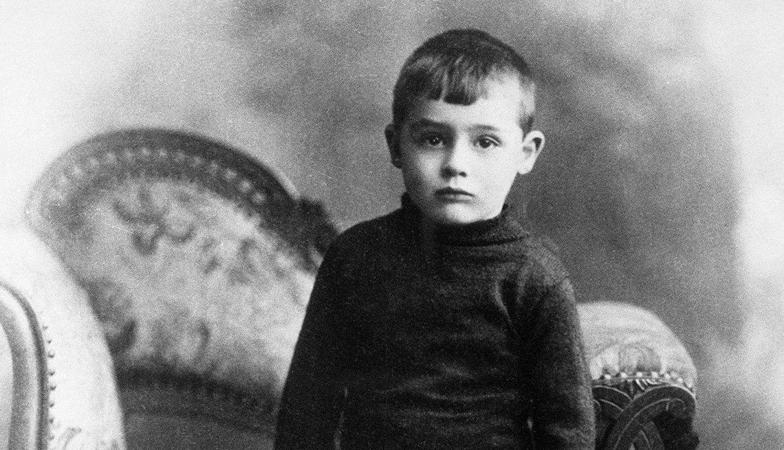 Actor inglés Cary Grant cuando era niño en Bristol, Inglaterra, 1909