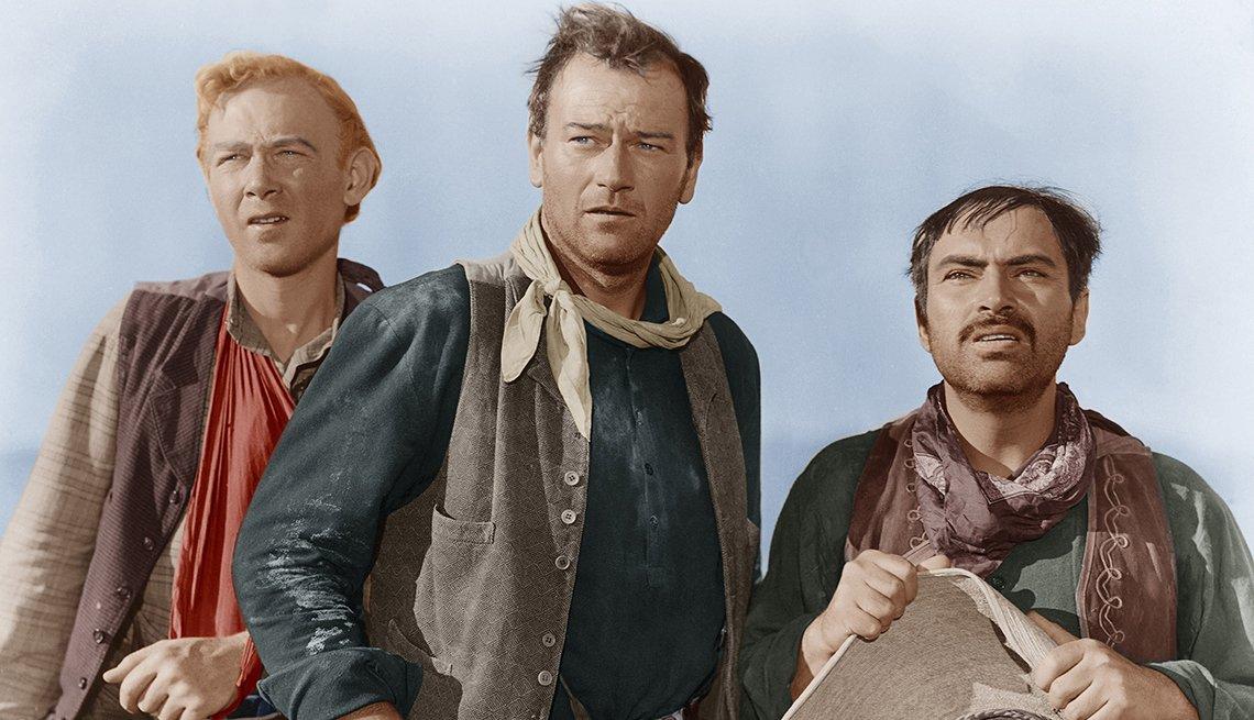 Pedro Armendáriz un actor que dejó huella en México y Hollywood - En una escena de la película 3 Godfathers con Harry Carey Jr. y John Wayne, 1948