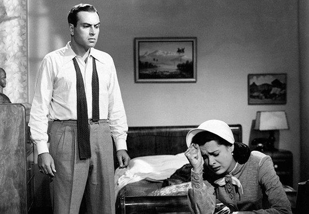 Pedro Armendáriz un actor que dejó huella en México y Hollywood - En una escena de la película Odio Mortale con la actriz Rebeca Iturbide, 1951